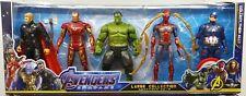 Avengers Endgame 18cm Action Figure Thor Hulk Buster Ironman Sipderman Thanos 5p