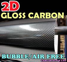 【2D GLOSS CARBON FIBRE】100mm X 200mm AIR FREE Vehicle Wrap Vinyl Sticker