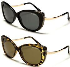 Designer Ojo de Gato Gafas De Sol Polarizadas Retro envoltura oval grandes damas Para mujeres UV400