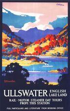 Vintage LMS Ullswater Lake District Railway Poster A4/A3/A2/A1 Print