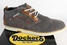 Dockers Chaussure Lacée Chaussures Basses Baskets Gris velourleder NOUVEAU!