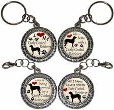 Curly Coated Retriever Dog Key Ring Key Chain Purse Charm Zipper Pull #2