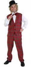 Kostüm Karo Hose Weste Tommy Clown Opa Schotte Zirkus Karneval Fasching