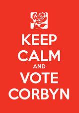 Keep Calm voto Jeremy Corbyn, lavoro, elezioni, Wall Art, Poster, tutte le taglie (6)