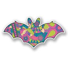 2 X 10 Cm Flor Bat Etiqueta Auto Moto Laptop Casco Animal Niñas Rosa Skate # 5892