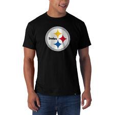 6e701ff15 Pittsburgh Steelers  47 Brand Black Over Sized Logo Flanker Scrum T-Shirt