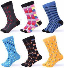 Gallery Seven Mens Dress Socks. Funky Colorful Socks for Men - 6 Pack