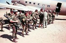 COLOR Photo Rhodesian Army Fireforce Rhodesia RLI FN FAL