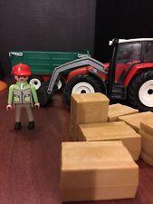 PLAYMOBIL 4496 Farm Ranch Tractor; Hay Trailer; Farmer Hay - Parts Choose 1
