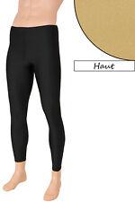 Herren Leggings Farbe Haut Leggin Lang Sporthose Glanz elastisch Größen S bis XL