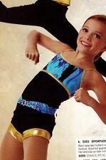 NEW SHORTY UNITARD Gold Hem w/ separate pullup belt royal black girls sizes