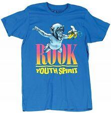 Rook Men's The Nevermind V2 Nirvana T Shirt Turquoise Blue Spirit -RKSM13003-TEA