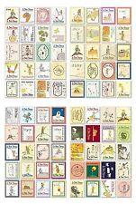 Le petit prince STAMP stickers le petit prince vintage carte artisanat Français DECO