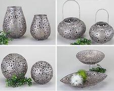 Formano Tesini Metall Windlicht - Schalen und Kugel Serie Schlamm - Metallic*