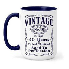 Vintage 40 Birthday Mug - Gift Years