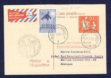 45515) KLM FF Amsterdam - Saigon Vietnam 31.3.59 AK via Brüssel ab BRD EF 251