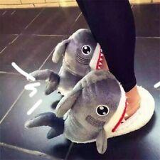 Women Men Slipper Cotton Warm Indoor Shoes Fashion Shark Patterned Winter Wears