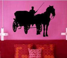 Vintage Carriage Horse Vinyl Wall Sticker Art Girls Room Classic