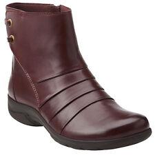 Clarks Christine Tilt Women's Burgundy Leather Boots 26103419