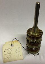 Allen Bradley Potentiometer JE1N0200P254U 250K  250,00 ohms Triple Gang 28151C