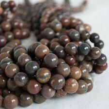 Jaspe piedras preciosas redondas de piedra riqueza natural redonda con cuentas-Grado A - 8 mm 10 mm