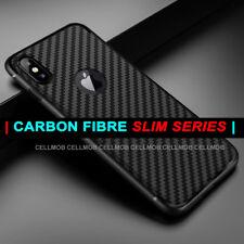 Funda para iPhone XS XS MAX X Xr de fibra de carbono cubierta suave TPU silicona delgada