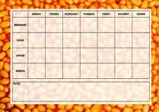 Baked Beans Weekly Menu Meal Planner