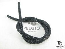 PELGIO Genuine Polished Stingray Skin Leather Bracelet Necklace Cord Black