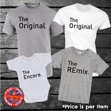 L'originale, il REMIX, la famiglia di corrispondenza Encore T-shirt, mamma, papà, Bambini