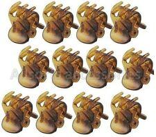 12 x Mini Plastic Hair Claw Clamps Bulldog Clips Grips Style Fashion Accessory