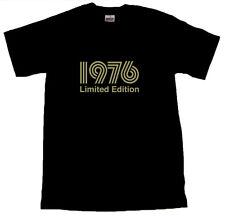 1976 Limited Edition Gold testo T-Shirt Tutte Le Taglie Nero #