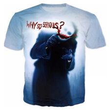 5XL Women/Men Funny Mirror Joker The Dark Knight 3D Print Casual T-Shirt Tee Top