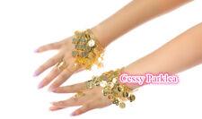 Belly Dance Accessories Bollywood Jewelery Handmade Metal Bangles Bracelet+Ring