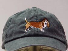 BASSET HOUND DOG HAT ADAMS LADIES MEN BASEBALL CAP - Price Embroidery Apparel
