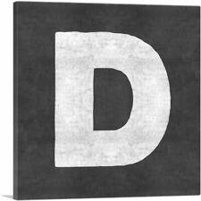 ARTCANVAS Chalkboard Alphabet Letter D Canvas Art Print