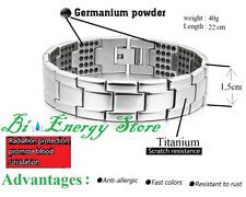 Energy Silver Bracelet Health ION Bio Germanium Stones Bio Armband TiTanium