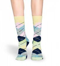Happy Socks - Socken - Argyle Socks, Rauten blau / grün / rosa - 36-40 + 41-46