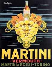 MARTINI VERMOUTH ROSSI TORINO Stile Retrò Vintage in metallo Insegna Placca Parete