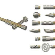 Gardinenstange Messing Optik / Edelstahl Optik 1-läufige Vorhangstange 20 mm Ø