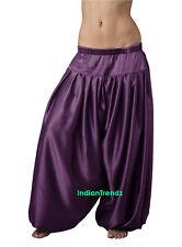 Purple Satin Harem Yoga Pant Belly Dance Pantaloons Bombachos Aladdin Halloween
