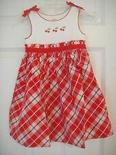 Gymboree NWT CHERRY CUTE Plaid Dress Red White Bow 3 3T 4 4T 5 5T