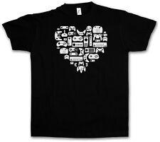 CONTROLLER HEART I T-SHIRT - Video Game Konsole NES Evolution Joystick Gamepad