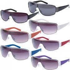 Sonnenbrille Monoscheiben Brille für Biker New Wayfarer Aviator Flieger B471