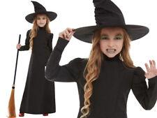 Wicked Witch Girls Halloween Fancy Dress Kids Wizard of Oz Child Costume + Hat