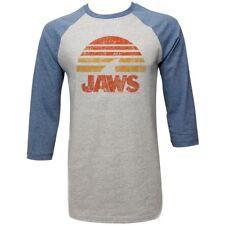 JAWS SHARK SUN CONCRETE/DENIM Men's Adult Raglan T-Shirt