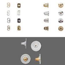 Lot of 100 Earring Back Backings For Post Stud Ear Rings Small -  Big Earnuts
