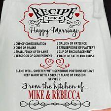 Personalized Apron.  Custom Apron. Personalized Romantic apron. Kitchen apron