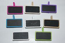Tischkarten Platzkarten Namenskärtchen Tafel Holz mit Klammer 12 St