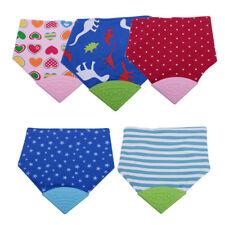 Baby Chewable Silicone Teether Teething Saliva Towel Bandana Bibs Triangle Scarf
