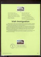 #3286 33c Irish Immigration USPS #9908 Souvenir Page